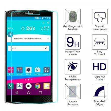 9H Premium Real Ultra Thin Tempered Glass Screen Protector Film Guard For LG G4