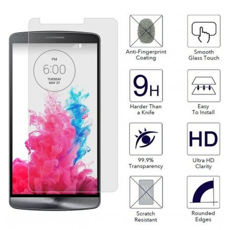 9H Premium Tempered Glass Screen Protector Cover Film Guard for LG G3