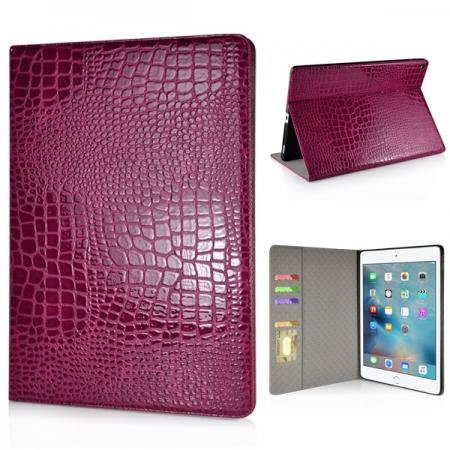 Alligator Pattern Flip Stand Leather Case For iPad Pro 12.9 inch With Card Slots - Rose