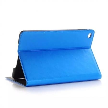 Crazy Horse Wallet Magnetic Flip Stand PC+ PU Leather Case for iPad Pro 12.9 Inch With Card Slots - Blue