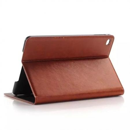 Crazy Horse Wallet Magnetic Flip Stand PC+ PU Leather Case for iPad Pro 12.9 Inch With Card Slots - Brown
