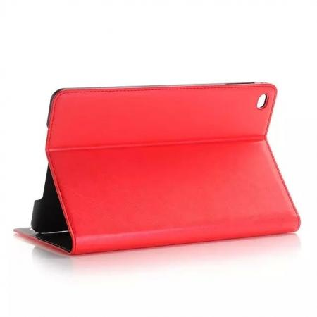 Crazy Horse Wallet Magnetic Flip Stand PC+ PU Leather Case for iPad Pro 12.9 Inch With Card Slots - Red