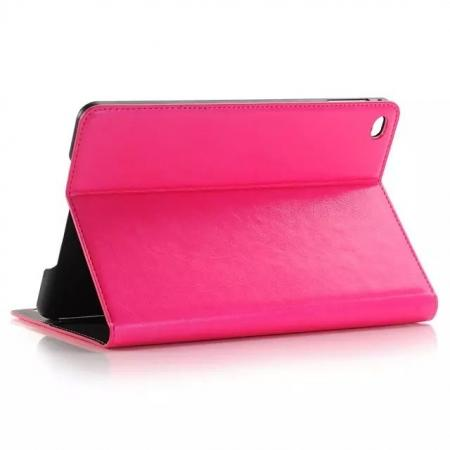 Crazy Horse Wallet Magnetic Flip Stand PC+ PU Leather Case for iPad Pro 12.9 Inch With Card Slots - Rose