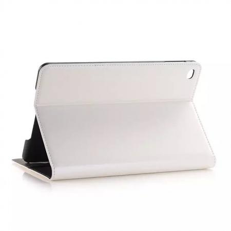 Crazy Horse Wallet Magnetic Flip Stand PC+ PU Leather Case for iPad Pro 12.9 Inch With Card Slots - White