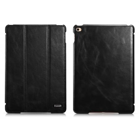 ICARER Vintage Series Genuine Leather Smart Stand Case For iPad mini 4 - Black
