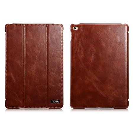 ICARER Vintage Series Genuine Leather Smart Stand Case For iPad mini 4 - Brown