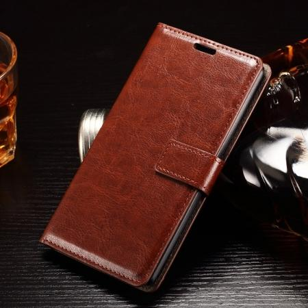 Luxury Crazy Horse Pattern Wallet Leather Case For LG G Stylo LS770/G4 Stylus LS770 - Brown