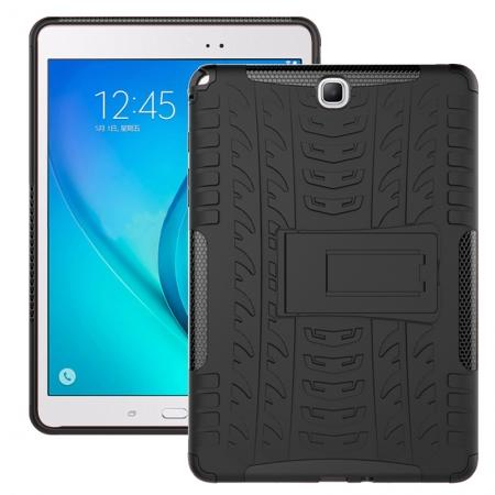 Shockproof Dual Layer Hybrid Kickstand Case For Samsung Galaxy Tab A 9.7 T550 - Black