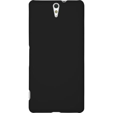 Ultrathin Solid Color Hard PC Back Cover Case for Sony Xperia C5 Ultra - Black