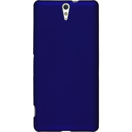 Ultrathin Solid Color Hard PC Back Cover Case for Sony Xperia C5 Ultra - Dark Blue