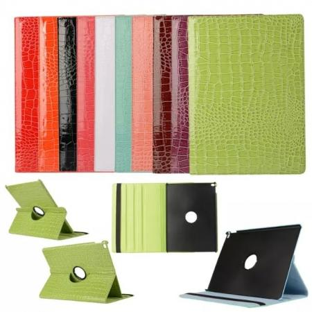 Crocodile 360 Rotating Magnetic Leather Case Smart Cover For iPad Pro