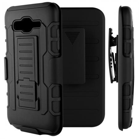 Future Armor Dual Layers Hybird Cover with Kickstand and Swivel Belt Clip For Samsung Galaxy J7