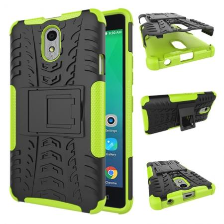 Heavy Duty Protection Rugged Dual Layer Hybrid Shockproof Case For Lenovo P1M - Green