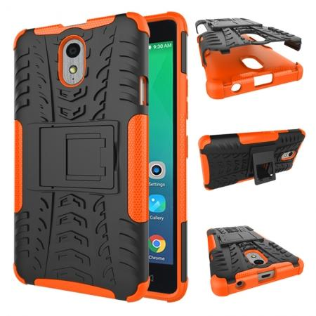 Heavy Duty Protection Rugged Dual Layer Hybrid Shockproof Case For Lenovo P1M - Orange