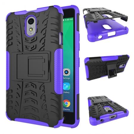 Heavy Duty Protection Rugged Dual Layer Hybrid Shockproof Case For Lenovo P1M - Purple