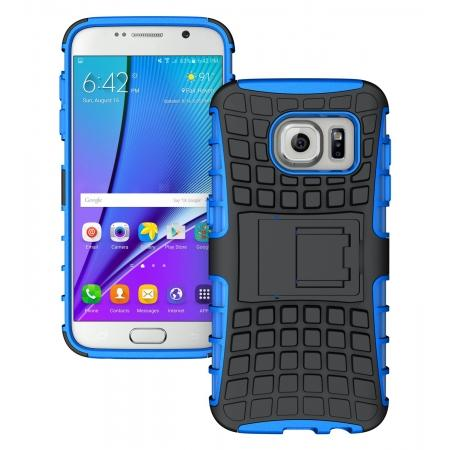 Heavy Duty Rugged TPU Impact Kickstand ShockProof Case Cover for Samsung Galaxy S7 - Blue