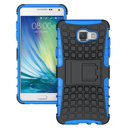 Hybird Dual Layers Armor Shockproof Stand Case Cover For Samsung Galaxy A5(2016) A510 - Blue