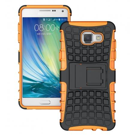 Hybird Dual Layers Armor Shockproof Stand Case Cover For Samsung Galaxy A5(2016) A510 - Orange