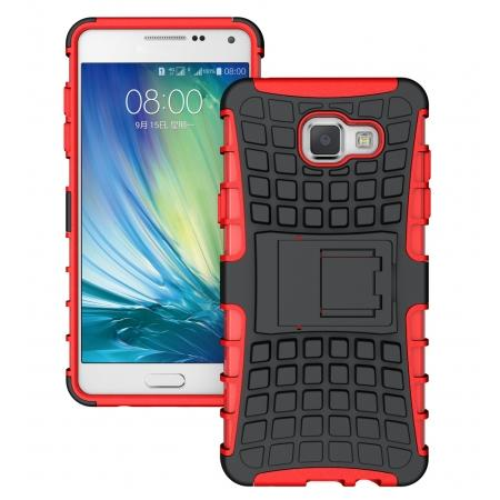 Hybird Dual Layers Armor Shockproof Stand Case Cover For Samsung Galaxy A5(2016) A510 - Red