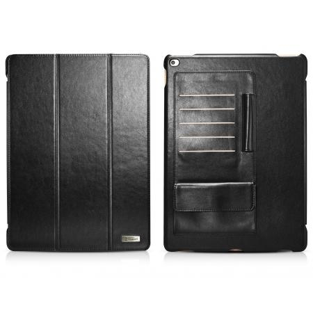 ICARER Business Multi-credit cards Series Smart Stand Leather Case For iPad Pro - Black