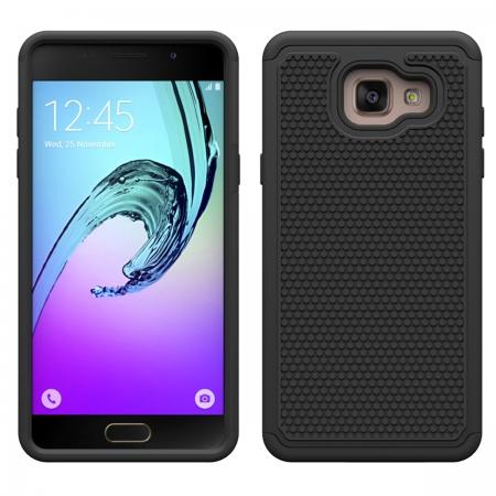 Hybrid Shockproof Dual Layer Rugged Protective Case For Samsung Galaxy A3(2016) A310 - Black