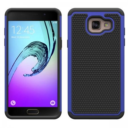 Hybrid Shockproof Dual Layer Rugged Protective Case For Samsung Galaxy A3(2016) A310 - Dark blue
