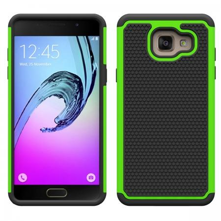 Hybrid Shockproof Dual Layer Rugged Protective Case For Samsung Galaxy A3(2016) A310 - Green