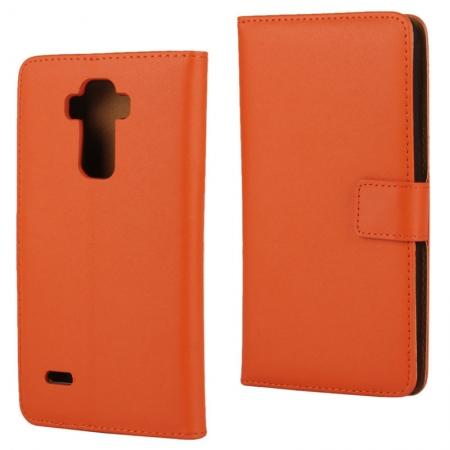 Magnetic Genuine Leather Case Wallet Stand Flip Card Slot Cover For LG V10/LG G4 PRO - Orange