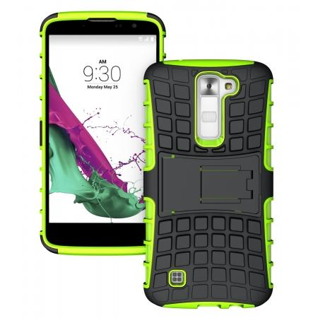 Heavy Duty Dual Layers Shockproof Hybrid Armor Protective Case Cover For LG K10 - Green