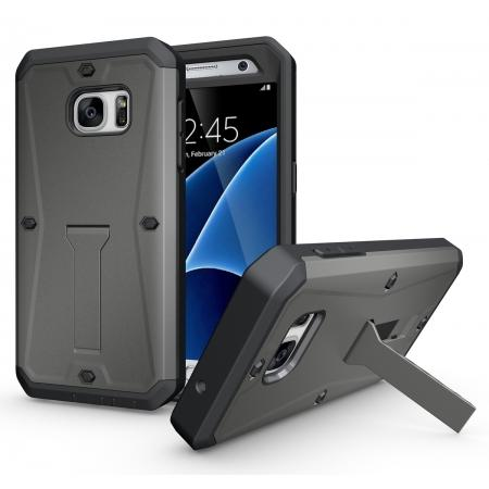 Hybrid Rugged Armor Shockproof protection Cover Case For Samsung Galaxy S7 - Gray