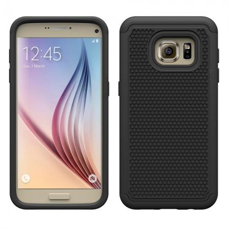 Hybrid Shockproof Rugged Matte Protective Case Cover For Samsung Galaxy S7 - Black