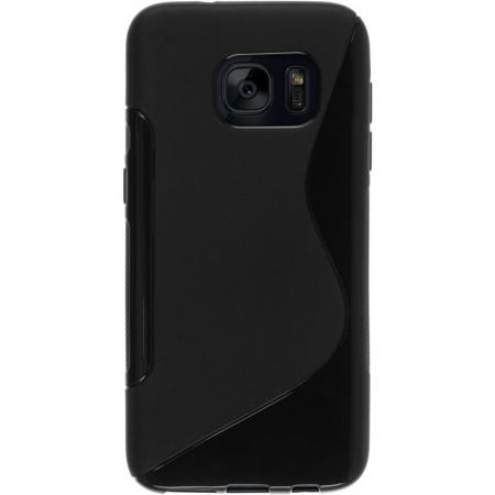 S Style TPU Silicone Case Rubber Soft Gel Cover For Samsung Galaxy S7 - Black