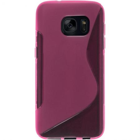 S Style TPU Silicone Case Rubber Soft Gel Cover For Samsung Galaxy S7 - Hot Pink