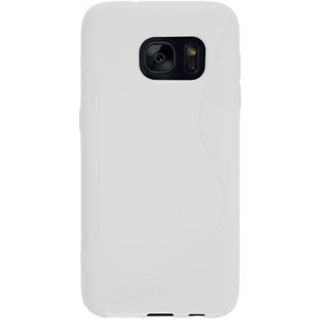 S Style TPU Silicone Case Rubber Soft Gel Cover For Samsung Galaxy S7 - White