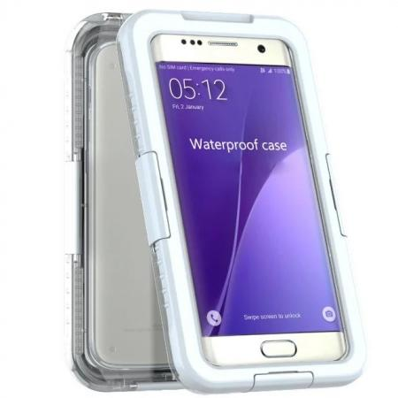 Swimming Waterproof Dirt Proof Shockproof Case Cover For Samsung Galaxy S7 - White