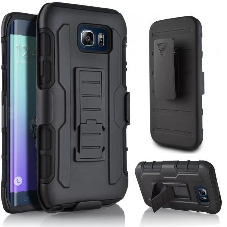 Future Armor Shockproof Stand Hard Case w/ Belt Clip Holster for Samsung Galaxy S7 Edge