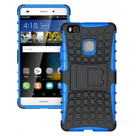 Heavy Duty Armor Rugged Dual Layer Hybrid Shockproof Protective Case For Huawei P9 Lite - Blue