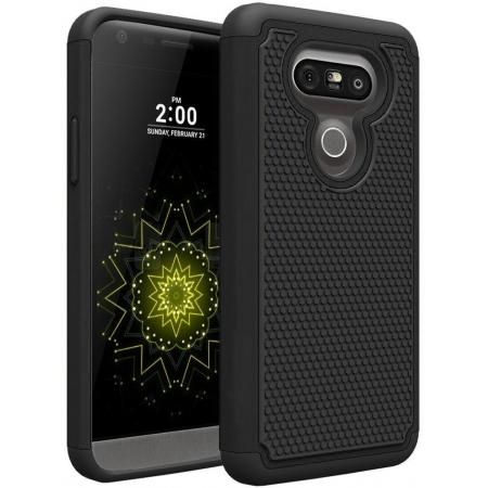Hybrid Shockproof Dual Layer Armor Defender Protective Case Cover for LG G5 - Black