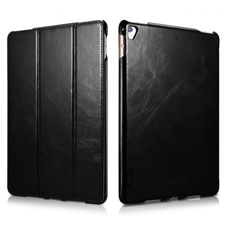 ICARER Vintage Series Genuine Leather Smart Stand Case For Apple iPad Pro 9.7inch - Black
