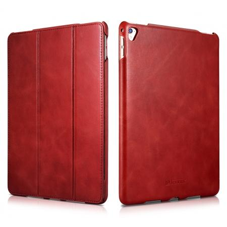 ICARER Vintage Series Genuine Leather Smart Stand Case For Apple iPad Pro 9.7inch - Red