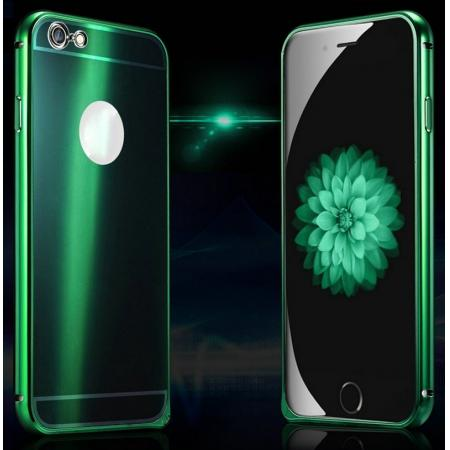 Luxury Aluminum Metal Frame With Colorful Acrylic Cover Case For iPhone 6 Plus/6S Plus - Green