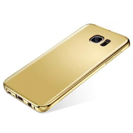 brand new 1fc6d b4c16 Luxury Aluminum Ultra-thin Mirror Metal Case Cover for Samsung Galaxy S7  Edge - Gold