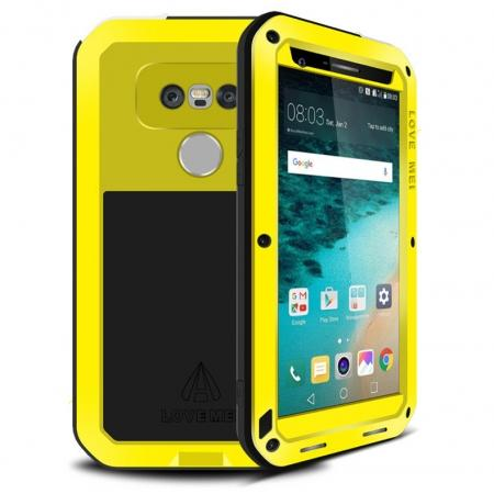 Shock Proof Aluminum Gorilla Glass Metal Case Cover For LG G5 - Yellow