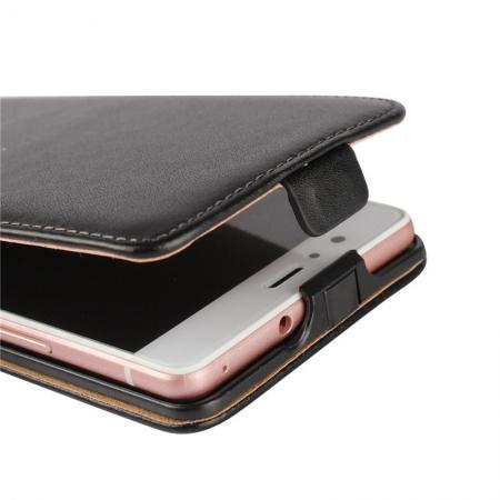 new product 56d14 66c50 Vertical Magnetic Close Genuine Real Leather Flip Case for Huawei P9 Lite -  Orange
