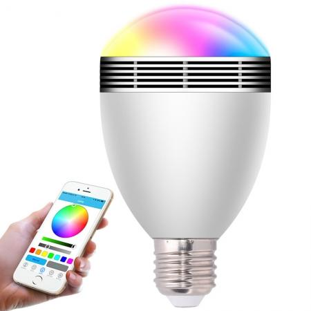 Bluetooth Control Smart Music Audio Speaker LED RGB Color Bulb Light Lamps - BL06A