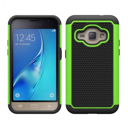 Hybrid Shockproof Rubber Protective Cover Case For Samsung Galaxy J1 Luna 2016 - Green