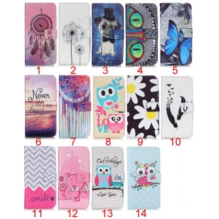 Magnetic Flip Patterned Leather TPU Stand Wallet Case For Samsung Galaxy A3(2016) A310