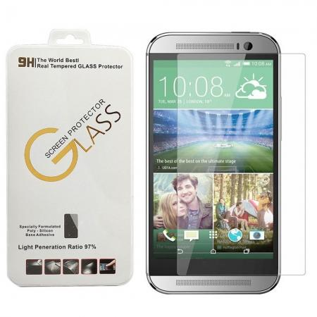 Premium 2.5d Round Edge Tempered Glass Screen Protector for HTC ONE M8
