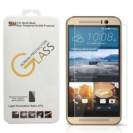 Ultra thin 2.5D 9H Tempered Glass Screen Protector For HTC One M9