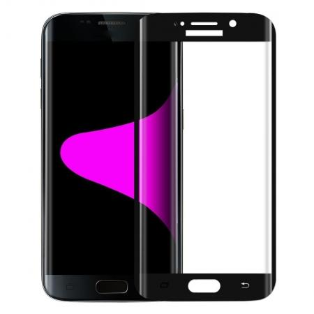 3D Curved Edge Tempered Glass Screen Protector For Samsung Galaxy S6 Edge Plus G928A - Black